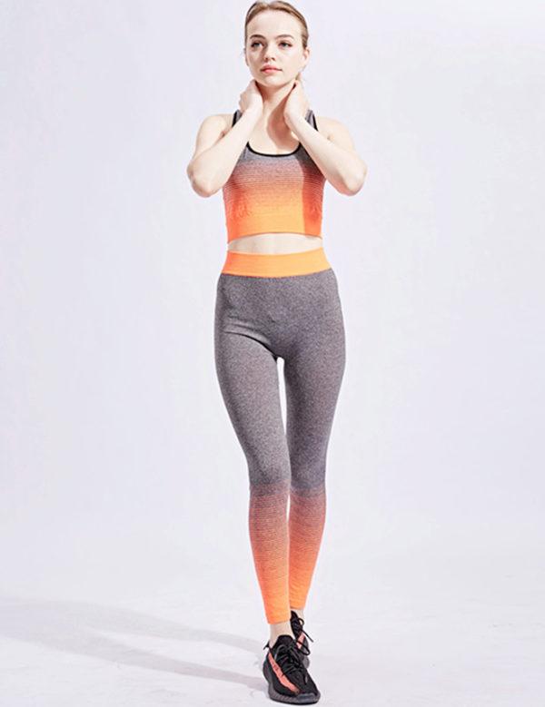 Swim Rags Uplifting Orange Fitness Yoga Exercise Outfit
