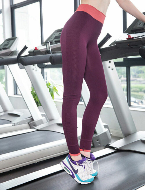 Fusion Red Fitness Leggings Treadmill Workout
