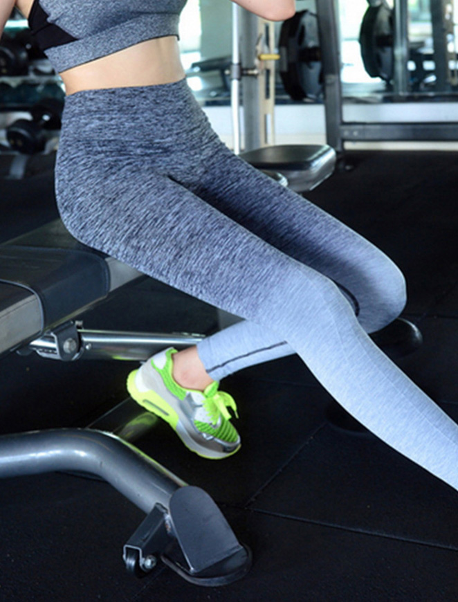 Intrepid Grey Fitness Leggings Gym Workout View