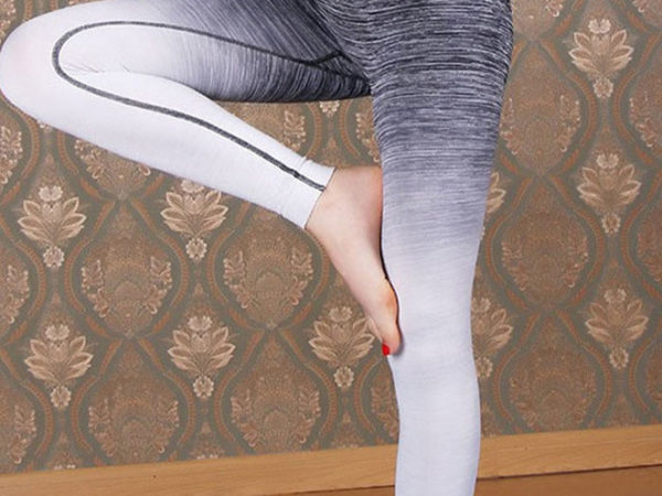 Intrepid Grey Fitness Leggings Yoga View