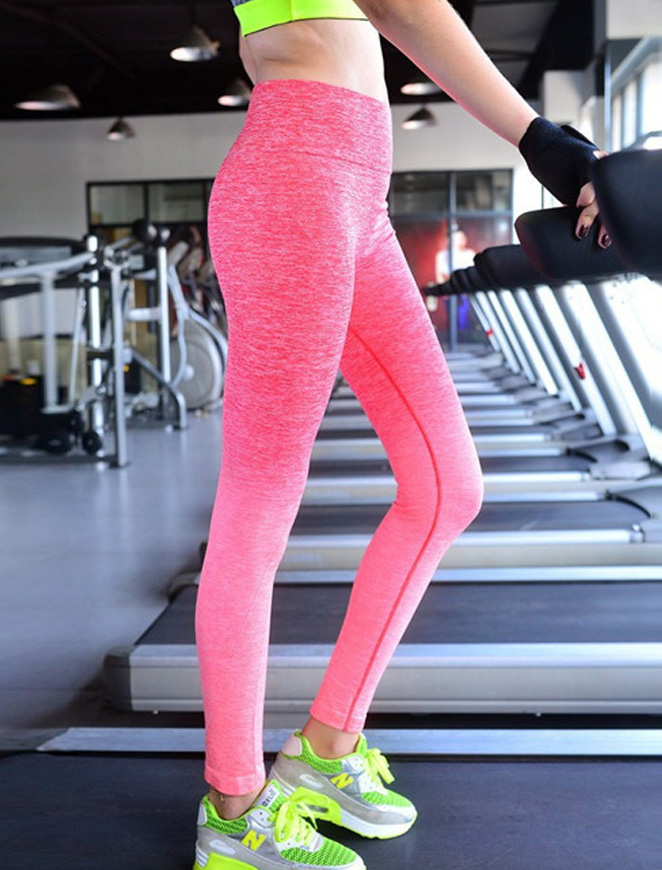 Pink Sky Fitness Leggings Sideview 1