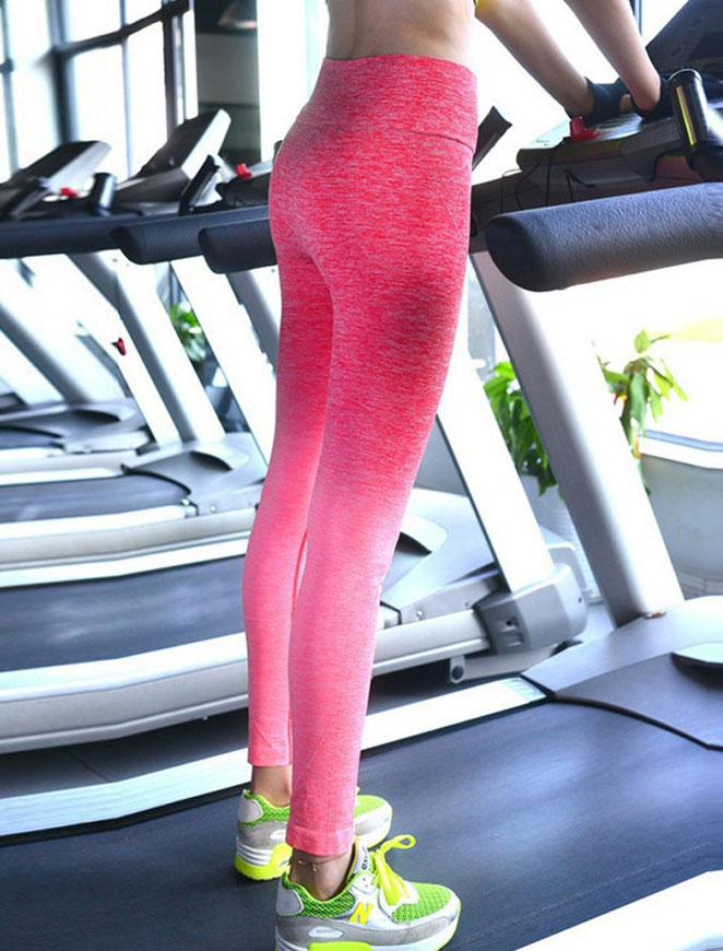Pink Sky Fitness Leggings Sideview 2