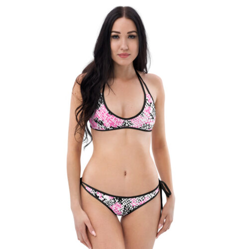 Pink Snake Skin Bikini