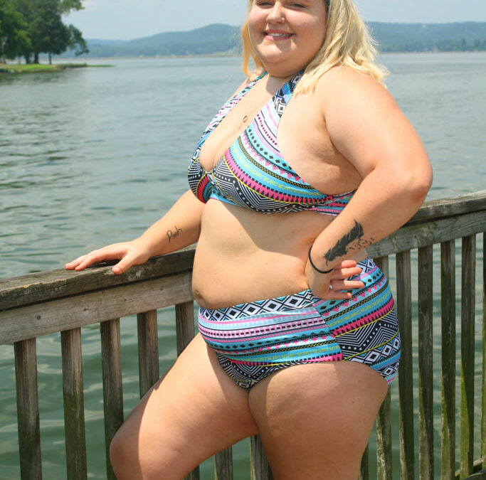 Aleena Plus Size Swim Rags Bikini Model