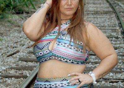 Ashley Plus Size Bikini Model Swim Rags (3)