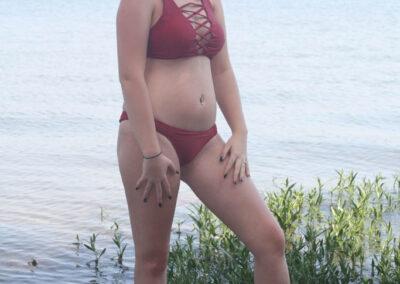 Teen Bikini Model Macy Swim Rags Criss-Cross Bikini(21)