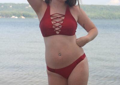 Teen Bikini Model Macy Swim Rags Criss-Cross Bikini(4)