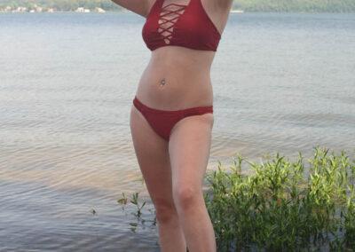 Teen Bikini Model Macy Swim Rags Criss-Cross Bikini(5)