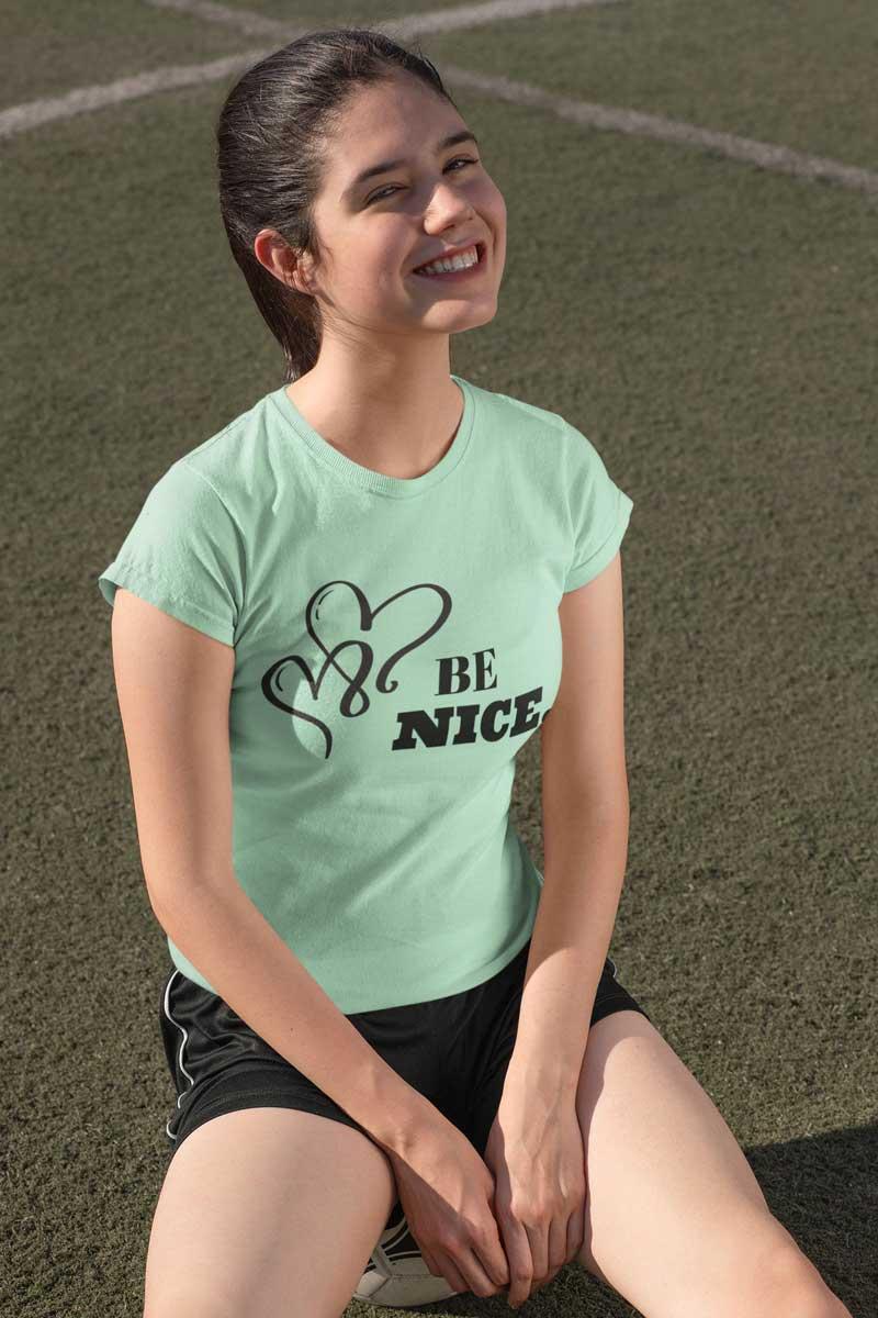 BE NICE. Short-Sleeve T-Shirt | Swim Rags