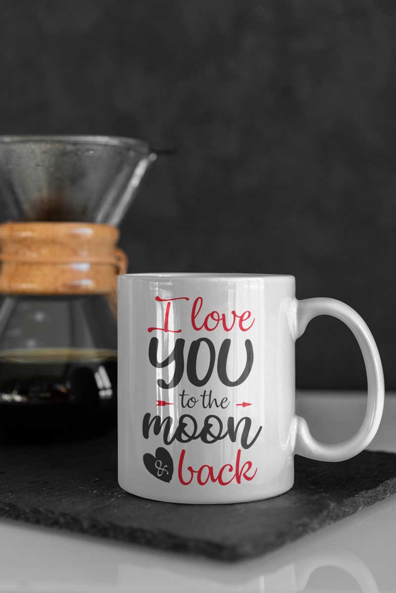 Valentine's Day Mug – Love You to The Moon and Back | Swim Rags