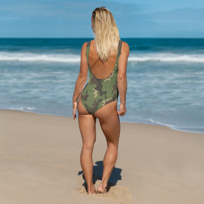 Camouflage One-Piece Swimsuit by Swim Rags