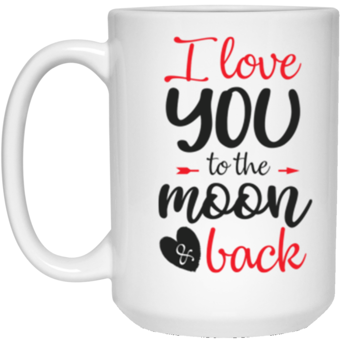 Valentine's Day Mug – Love You to The Moon and Back   Swim Rags
