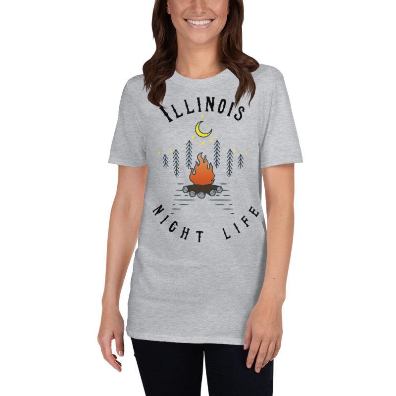 Illinois Short-Sleeve T-Shirt Sport Grey