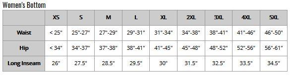 Swim Rags Bikini Bottoms Size Chart