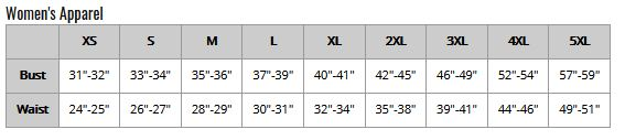 Swim Rags Bikini Size Chart