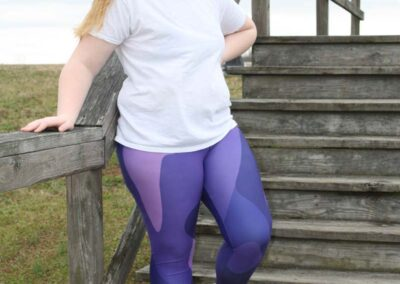 Teen Model Desna Shows of Swim Rags Camo Leggings (1)