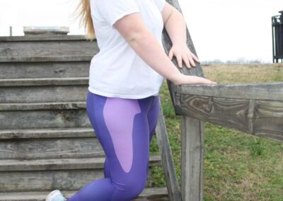 Teen Model Desna Shows of Swim Rags Camo Leggings (12)