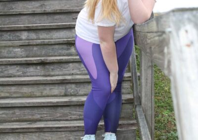Teen Model Desna Shows of Swim Rags Camo Leggings (17)