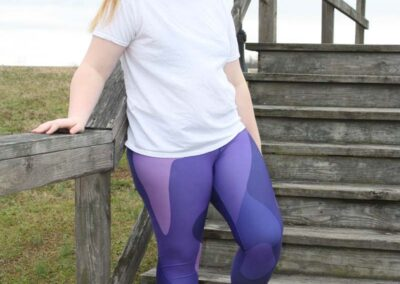 Teen Model Desna Shows of Swim Rags Camo Leggings (2)