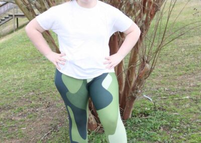 Teen Model Desna Shows of Swim Rags Camo Leggings (40)