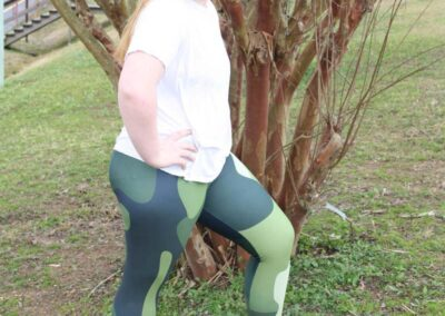 Teen Model Desna Shows of Swim Rags Camo Leggings (41)