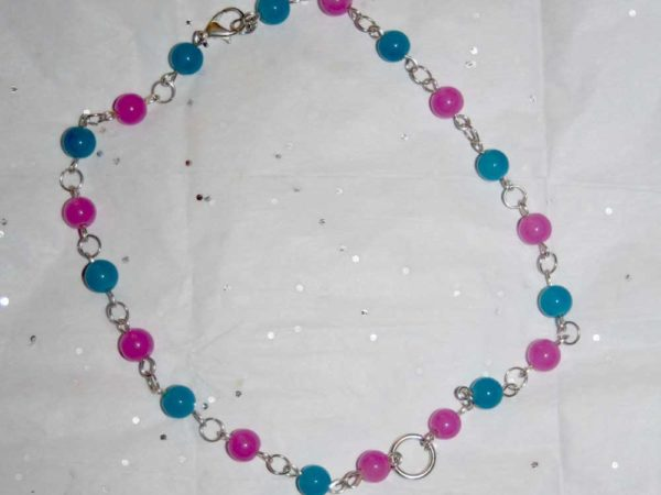 Blue and Pink Candy Necklace