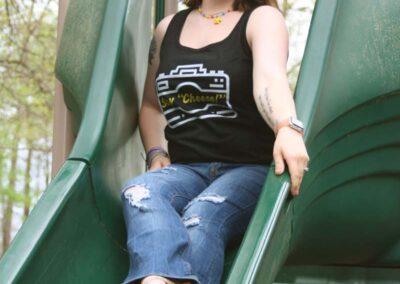 Teen Model Chantel Modeling Tee Shirts Leggings and Bikini for Swim Rags (15)