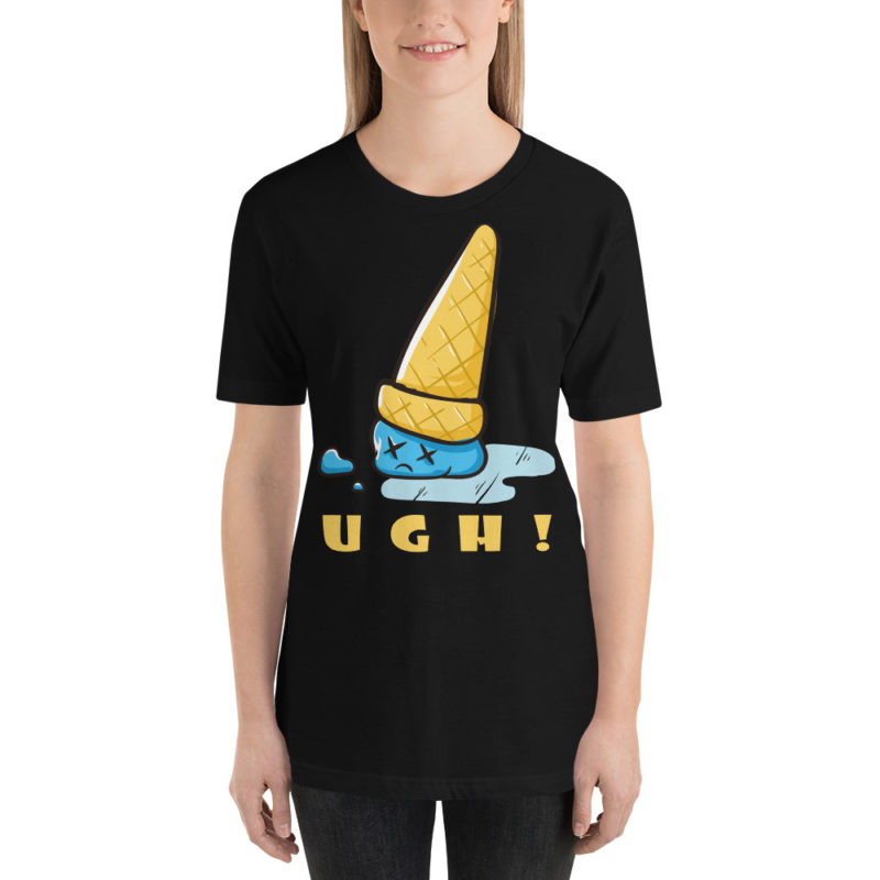 UGH! Ice Cream Cone Drop Short-Sleeve T-Shirt