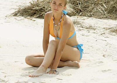 Teen Bikini Model Storme Orange and Blue Two-Piece Bikini Set Swim Rags Swimwear (4)