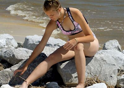 Teen Bikini Model Storme Pink Snakeskin Bikini Swim Rags Swimwear (5)