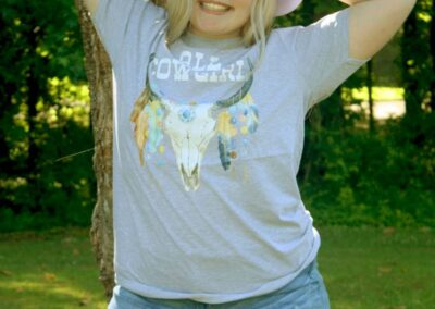 Teen Model Desna Models All Cowgirl Tee Shirt from Swim Rags (4)