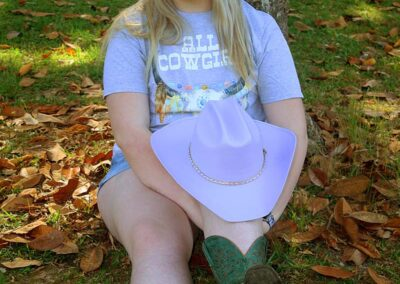 Teen Model Desna Models All Cowgirl Tee Shirt from Swim Rags (8)