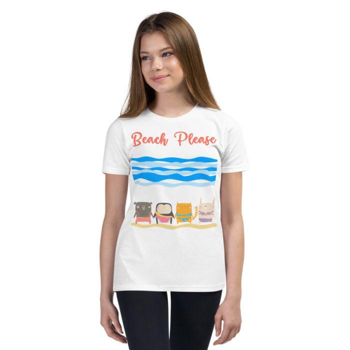 Beach Please, Buddies Youth Short Sleeve T-Shirt
