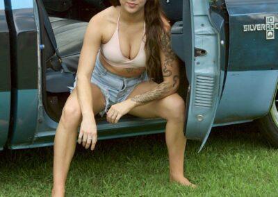 Bikini Model Madison in Classic Auto Bikini Photoshoot for Swim Rags (15)