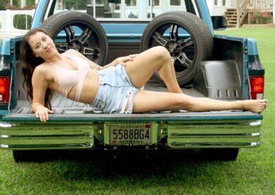 Bikini Model Madison in Classic Auto Bikini Photoshoot for Swim Rags (17)
