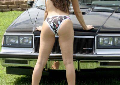 Bikini Model Madison in Classic Auto Bikini Photoshoot for Swim Rags (2)