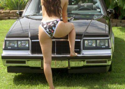 Bikini Model Madison in Classic Auto Bikini Photoshoot for Swim Rags (3)