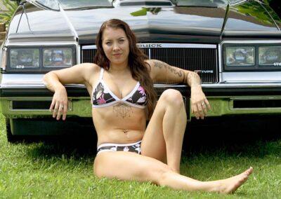 Bikini Model Madison in Classic Auto Bikini Photoshoot for Swim Rags (8)