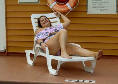 Plus Size Model Aleena Model Pink Camo Snake Skin Halter Flowy Bikini Set by Swim Rags (3)