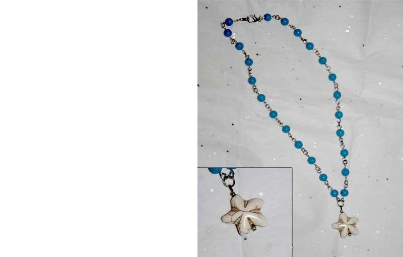 Sea Star Necklace on Blue Chain - Swim Rags Jewelry