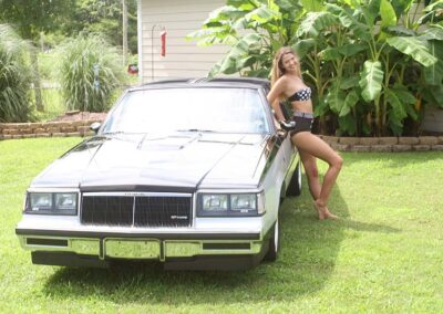 Teen Bikini Model Greta Classic Car Photos for Swim Rags (7)